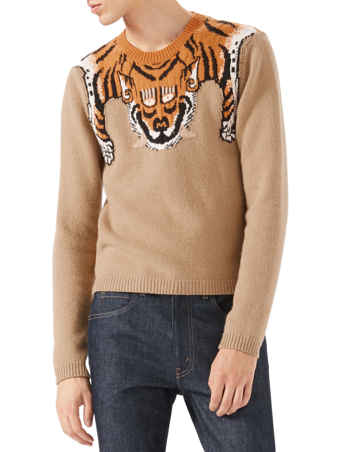 Gucci Tiger Long-sleeve Sweater for Men | Lyst