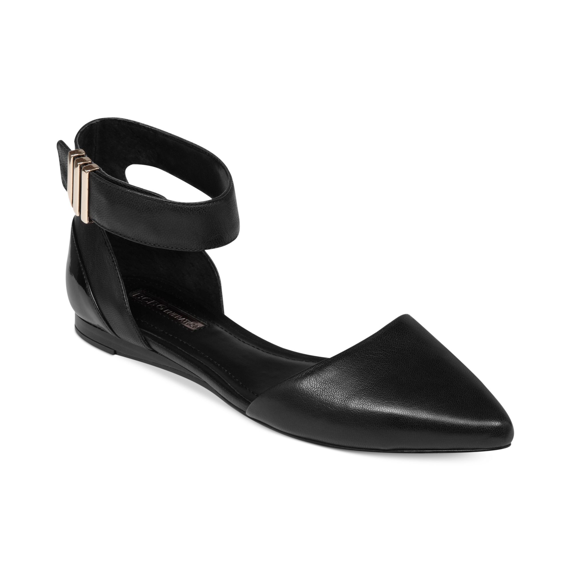 Lyst Bcbgeneration Tilda Two Piece Ankle Strap Flats In