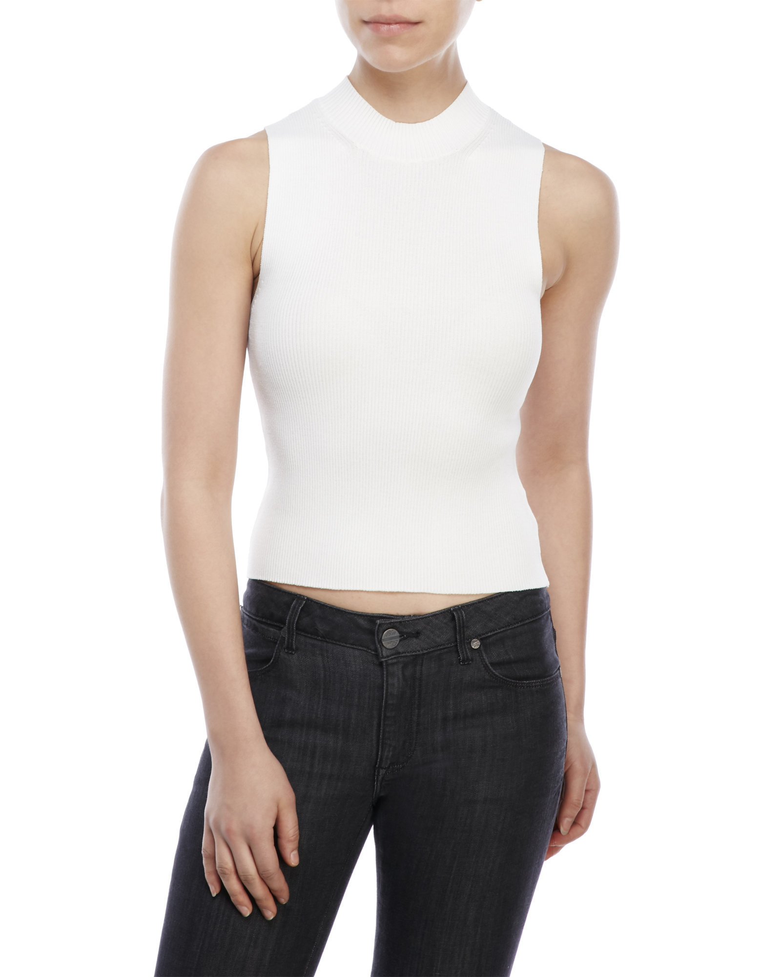 bbbc513ef0a5b Lyst - Cotton Candy Ribbed Tank in White