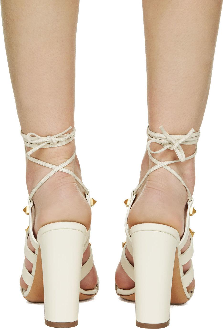 Gladiator Heels White