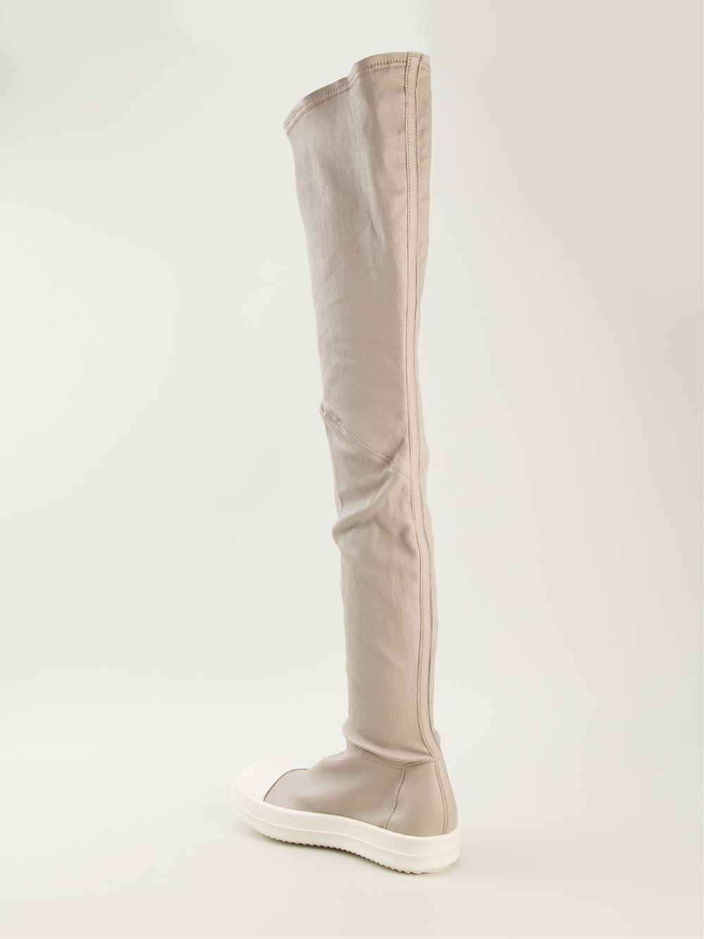 Rick owens 'Ramones' Thigh High Boots in Gray | Lyst