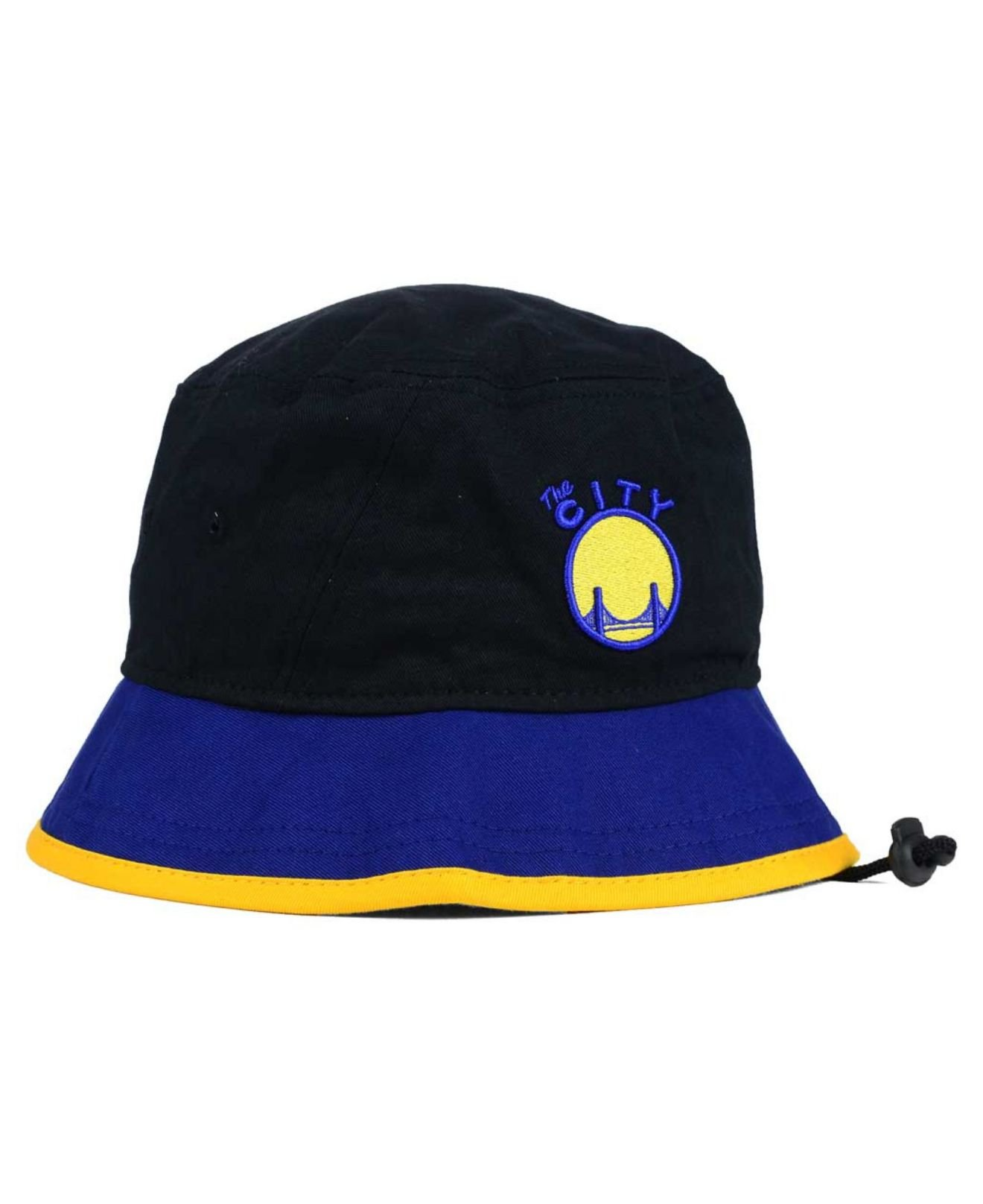 ab36910bd KTZ Blue Golden State Warriors Black-top Bucket Hat for men
