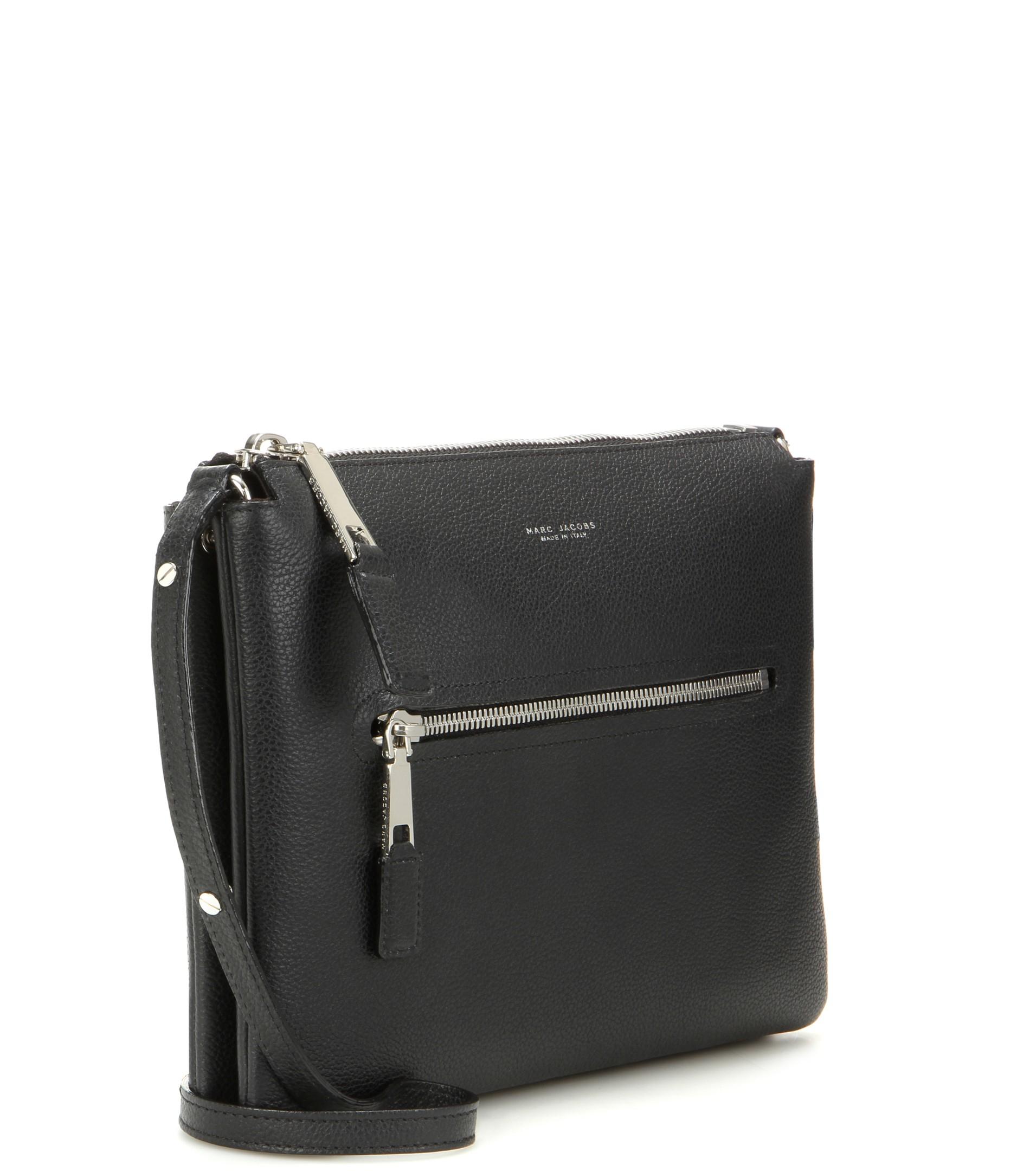 Double Pochette Leather Shoulder Bag
