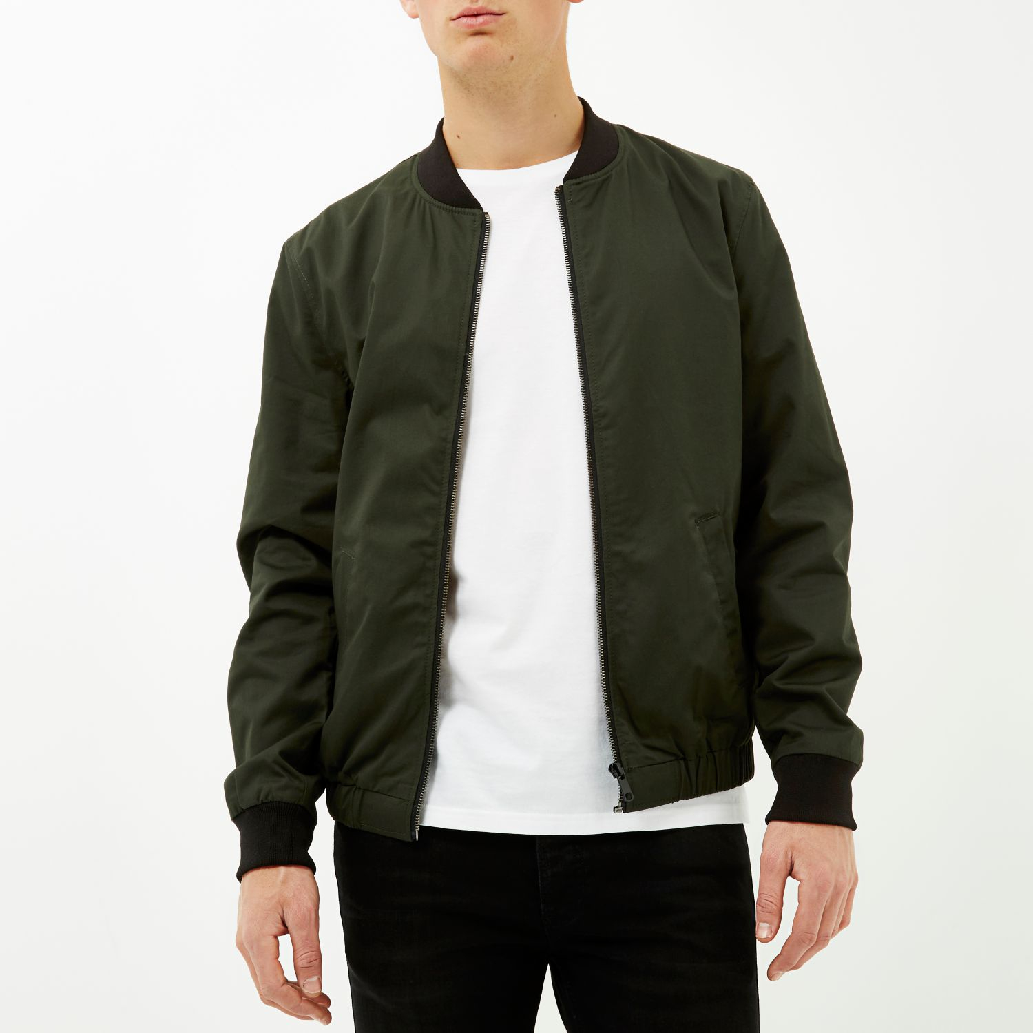Dark green casual bomber jacket – Modern fashion jacket photo blog