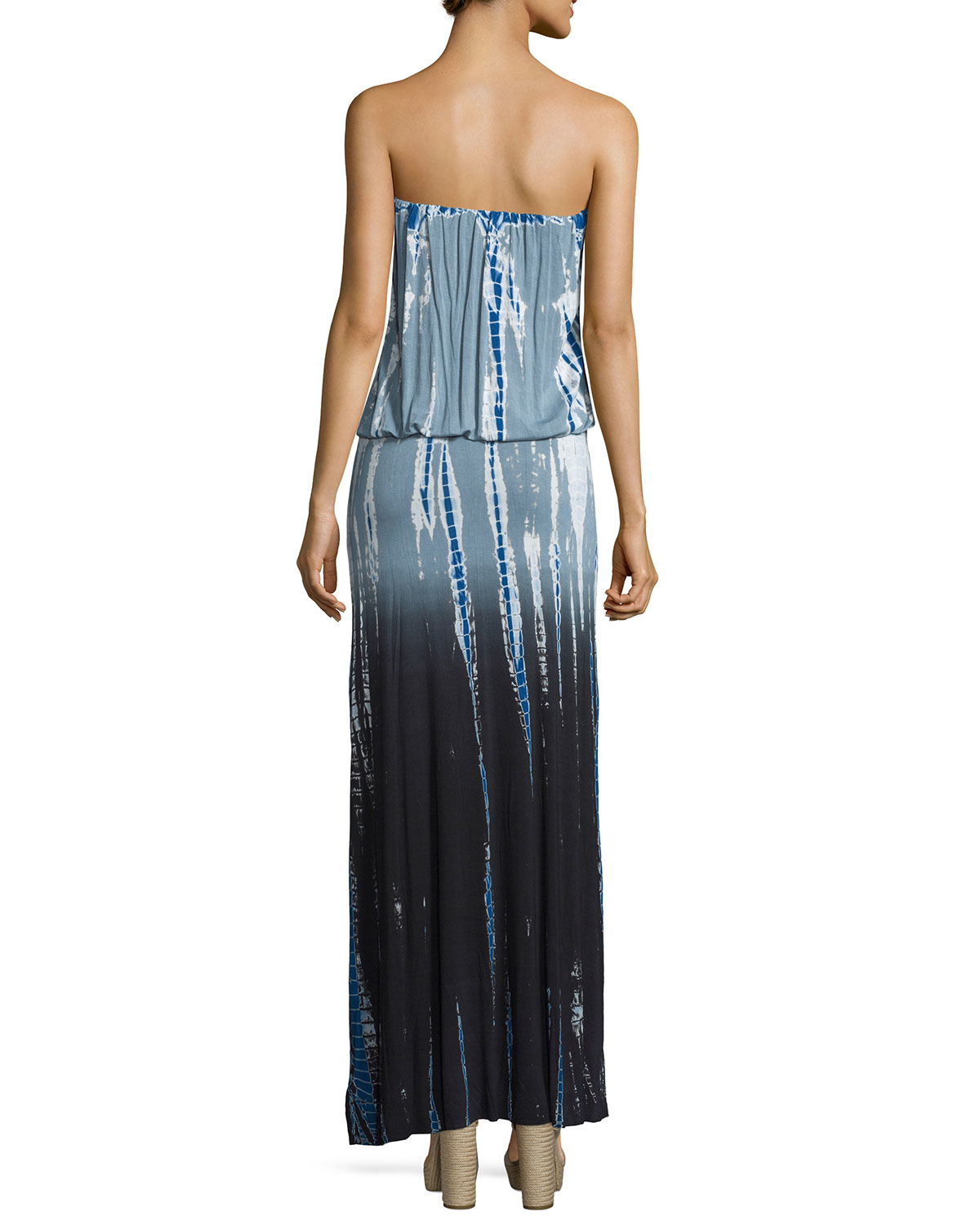 Young fabulous & broke Sydney Strapless Ombre Tie-dye Maxi ...