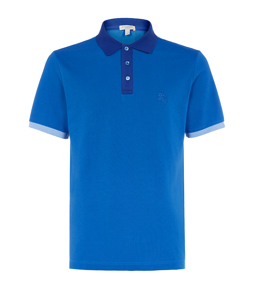 Burberry Brit Contrast Trim Polo Shirt In Blue For Men Lyst