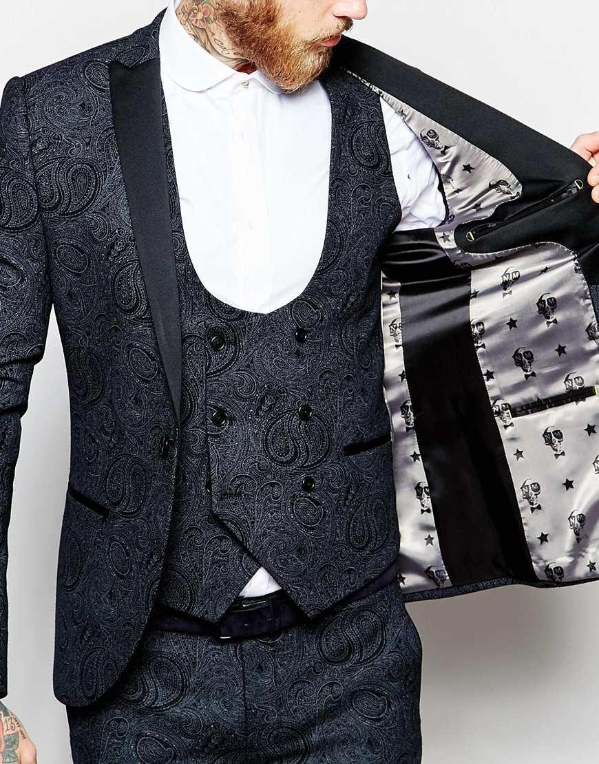 Lyst Noose And Monkey Tuxedo Wool Blend Suit Jacket In