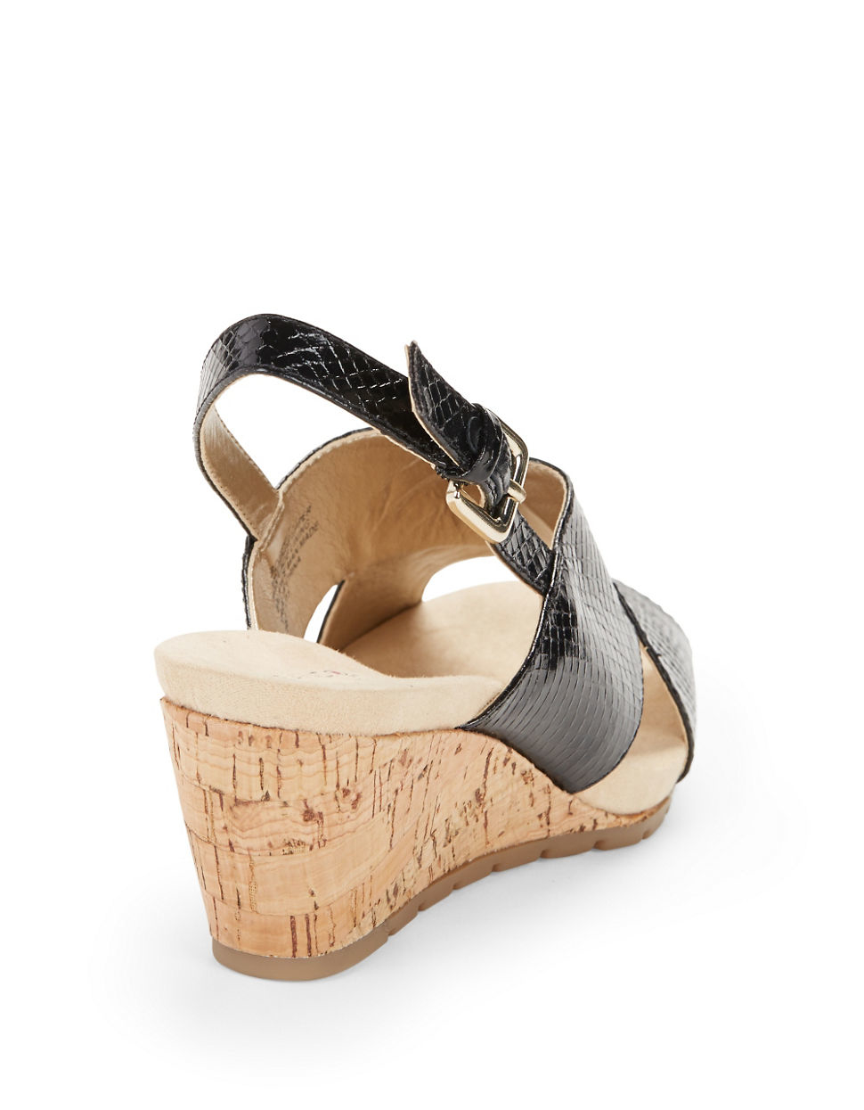 Bandolino Gerie Slingback Wedge Sandals In Black Lyst