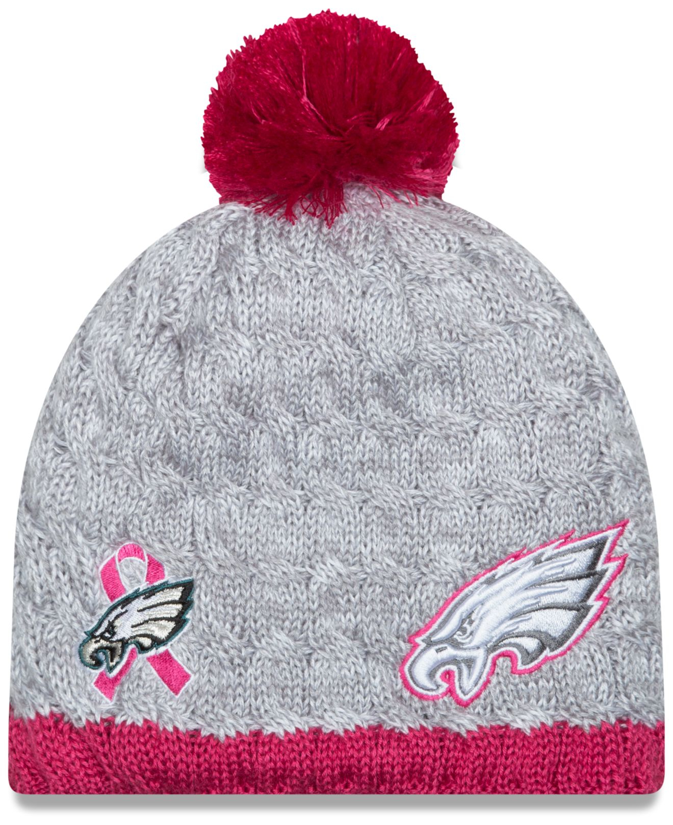 Lyst - KTZ Women s Philadelphia Eagles Breast Cancer Awareness Knit ... 82c8fdb76
