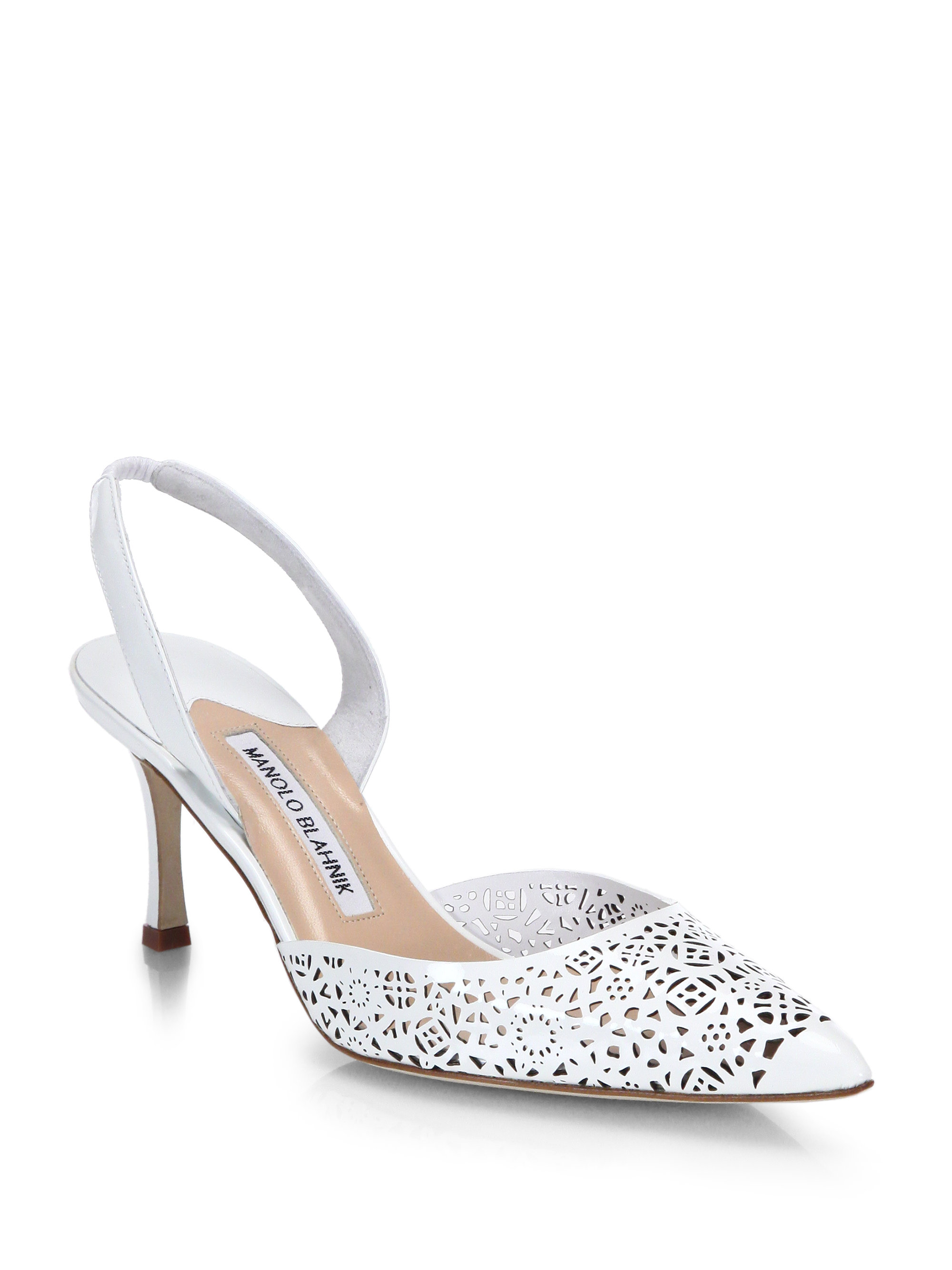 Manolo Blahnik Slingback Cutout Sandals pay with visa online HOs2Y