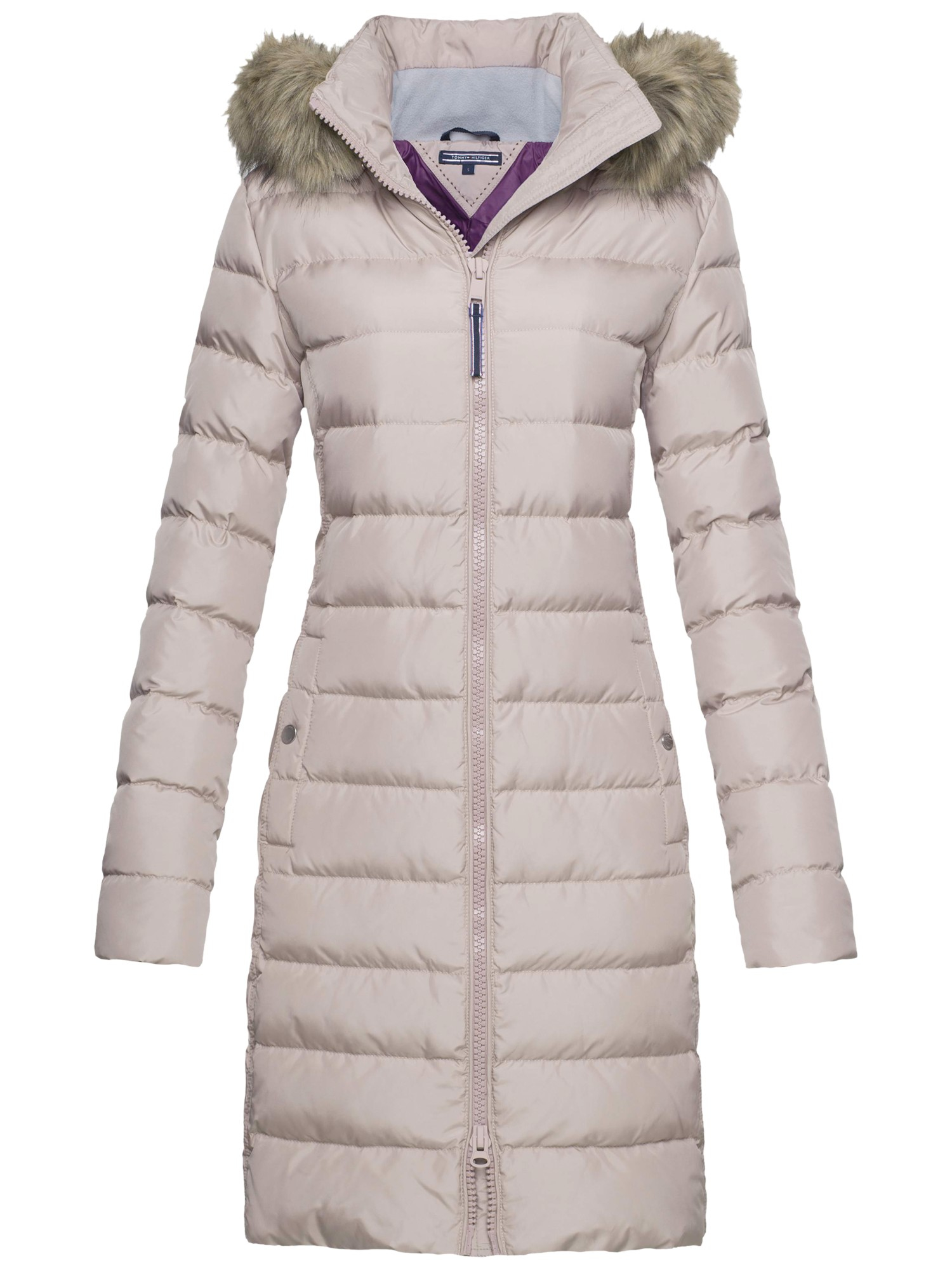 Tommy Hilfiger Tyra Down Coat In Natural Lyst