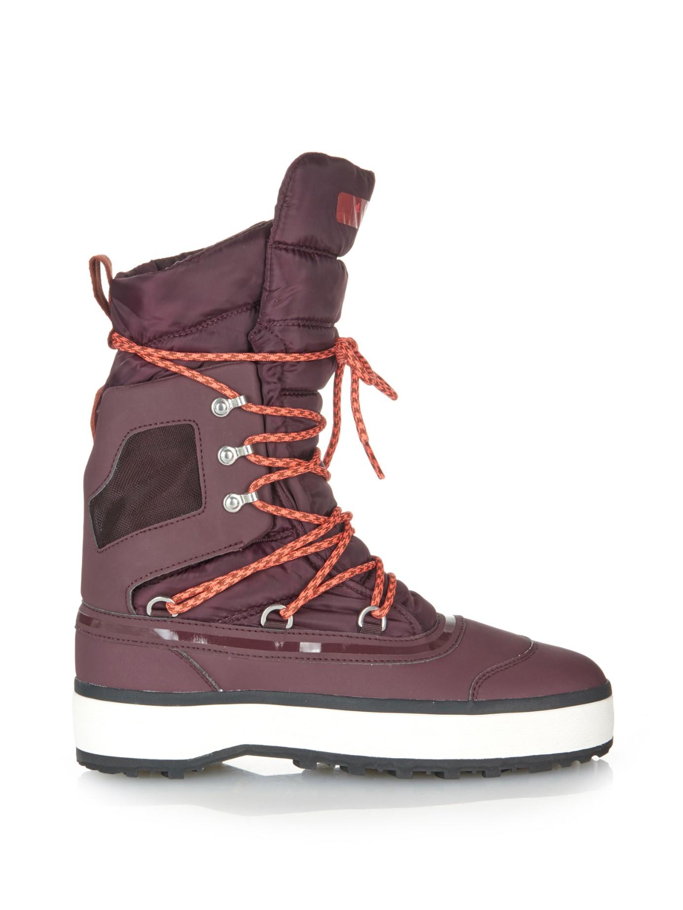 Adidas By Stella Mccartney Nangator Snow Boots In Purple