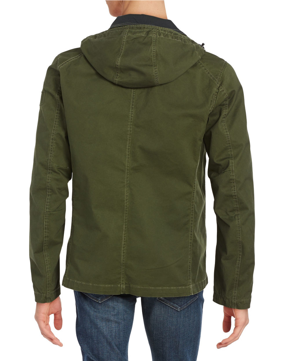 g star raw hooded utility jacket in green for men lyst. Black Bedroom Furniture Sets. Home Design Ideas