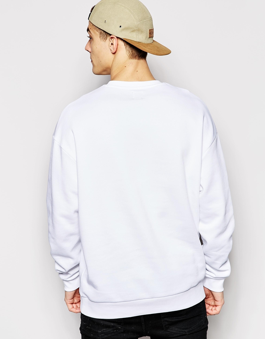 Lyst Asos Sweatshirt With Pepsi Chest Print In White For Men