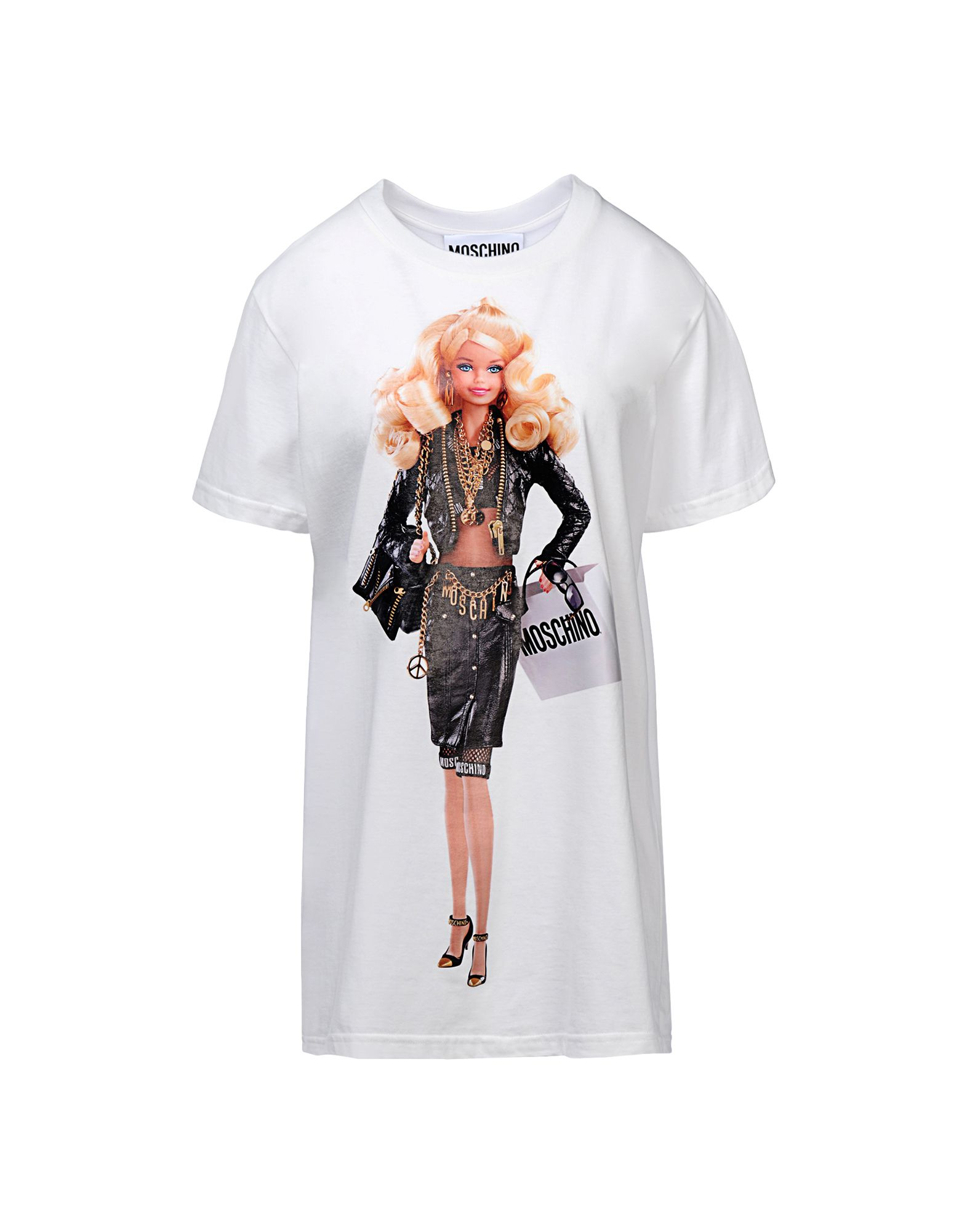 moschino sleeve t shirts in white lyst