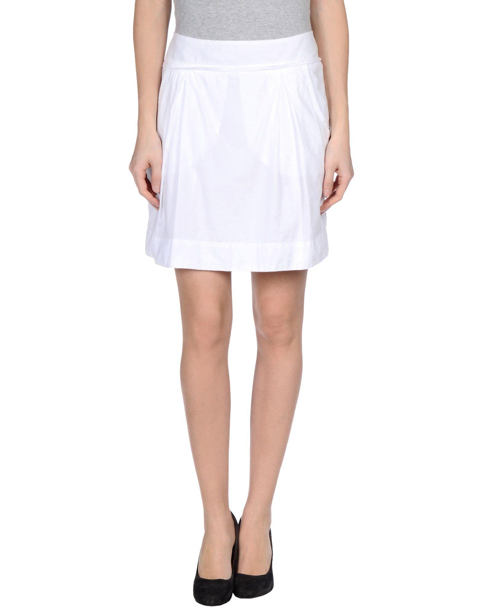 hartford mini skirt in white lyst