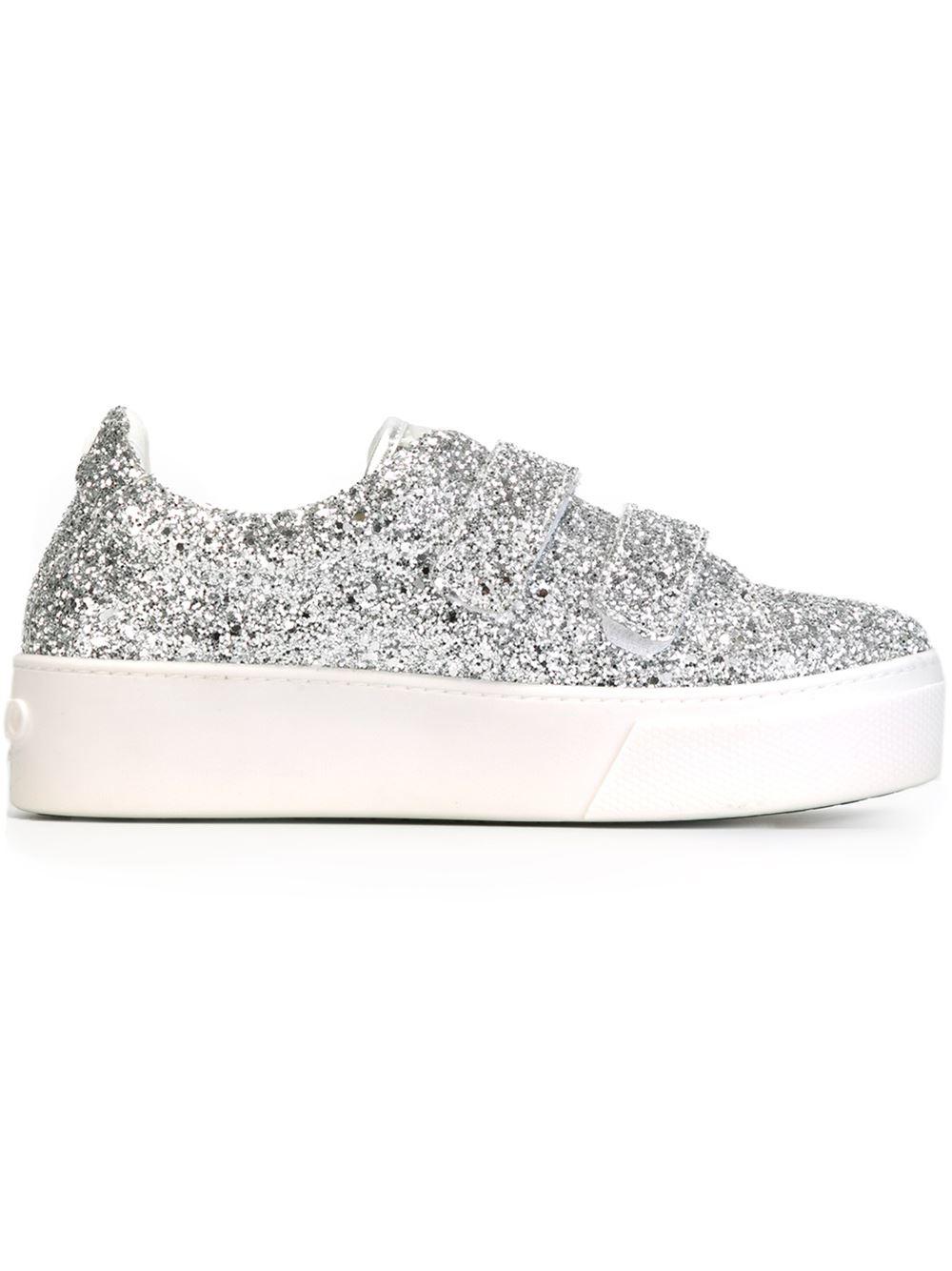 KENZO Glitter Platform Sneakers in
