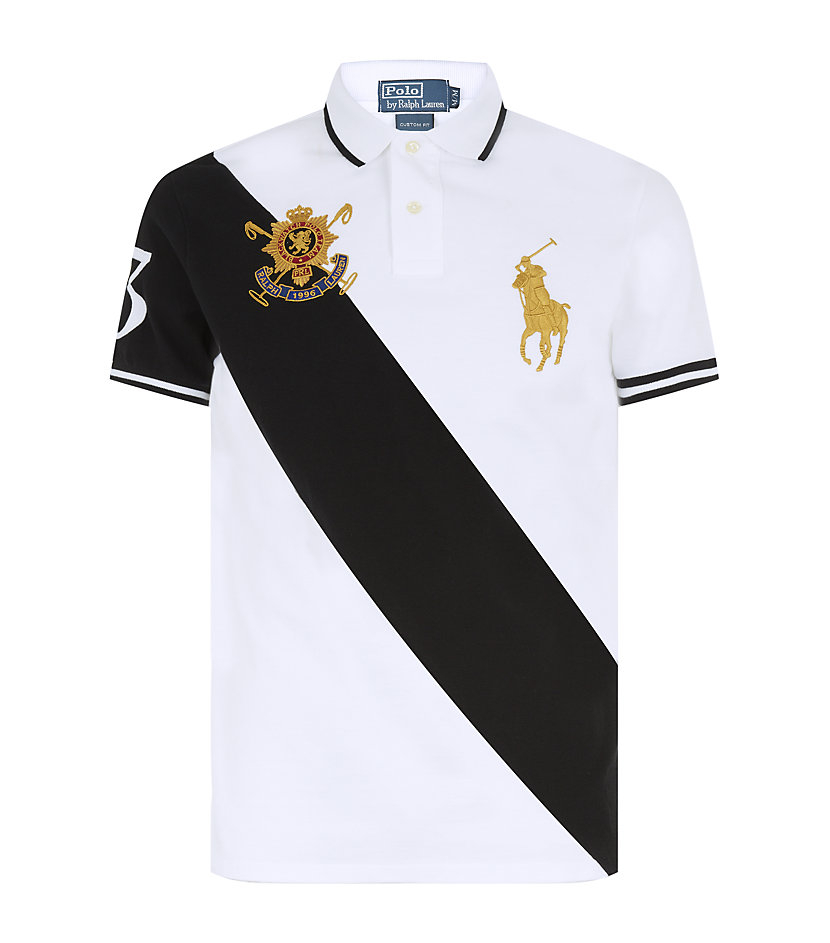 50% price the sale of shoes on feet shots of Diagonal Stripe Black Watch Team Polo Shirt