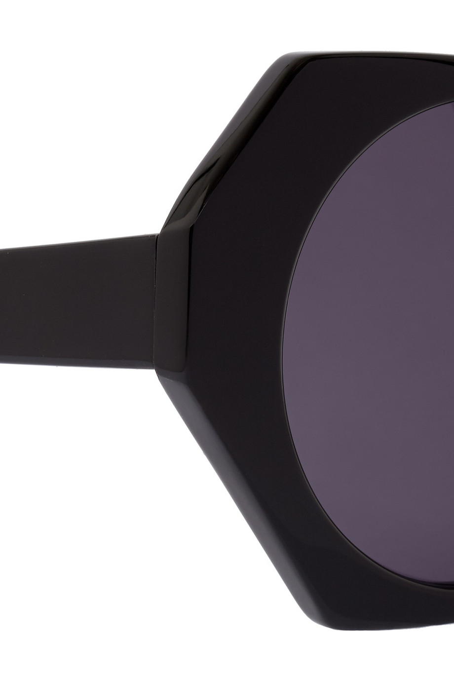 House of Holland Hexographic Square-Frame Acetate Sunglasses in Black