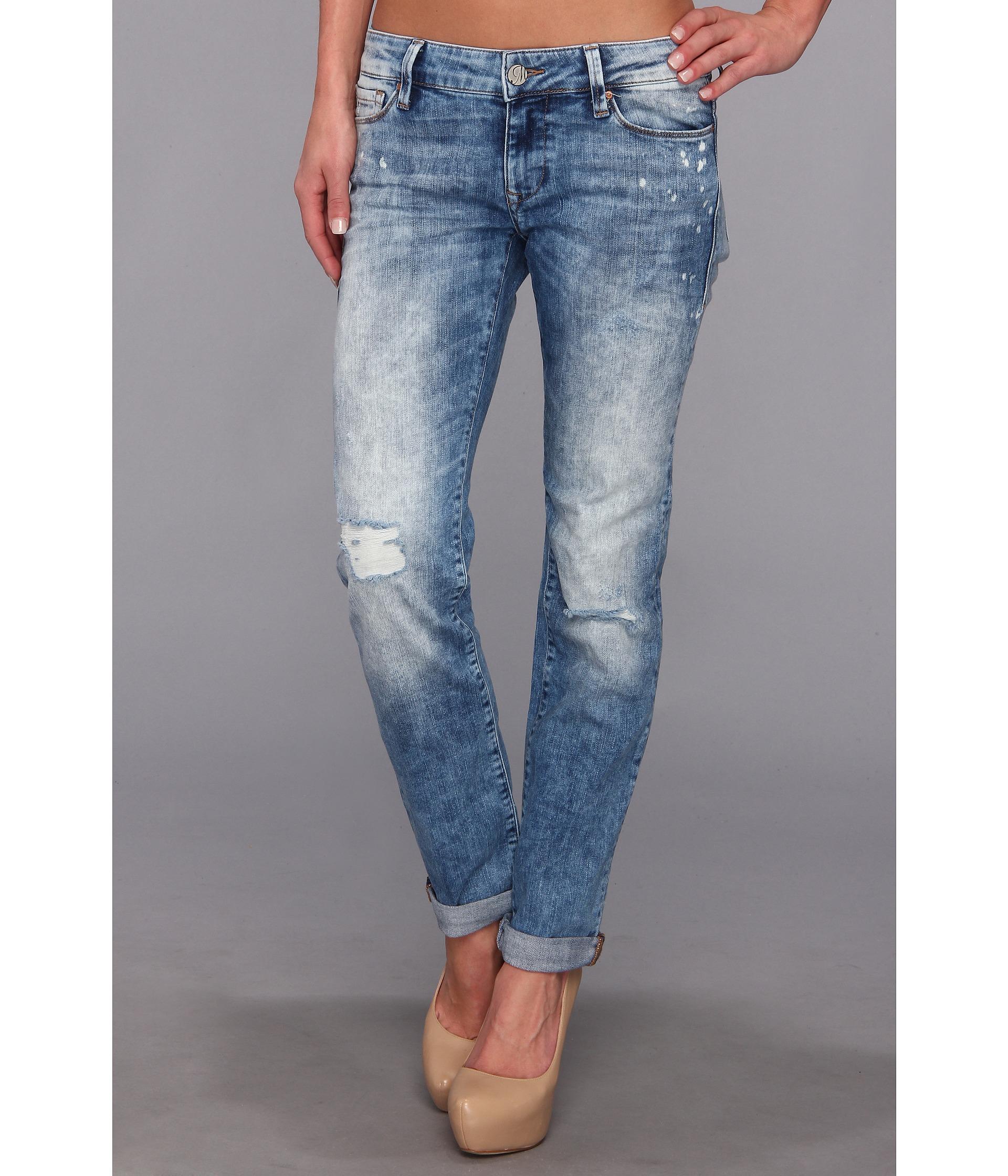 ba9926db75 Lyst - Mavi Jeans Emma Slim Boyfriend in Painted Artist Vintage in Blue