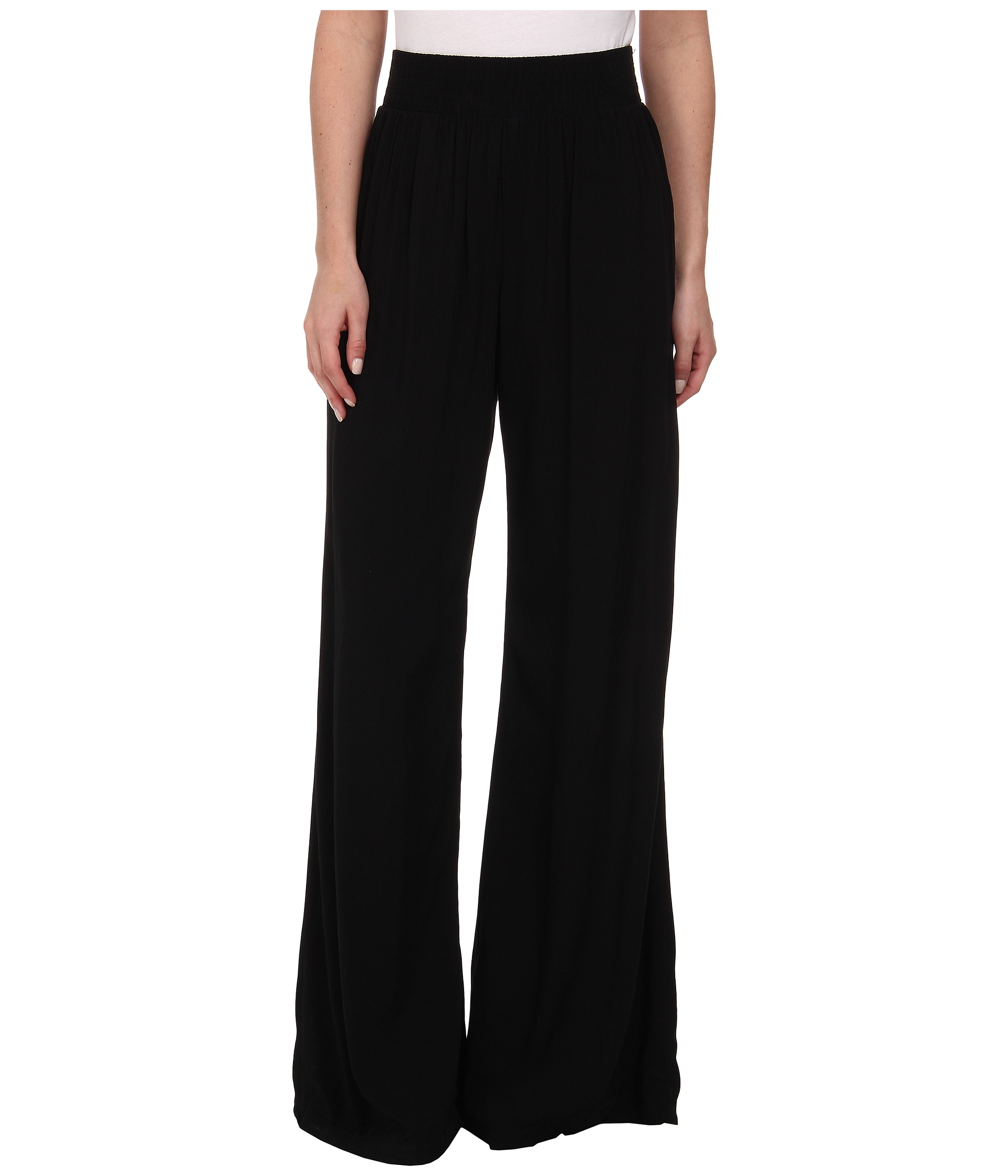 Michael stars Modern Rayon Wide Leg Pants in Black | Lyst