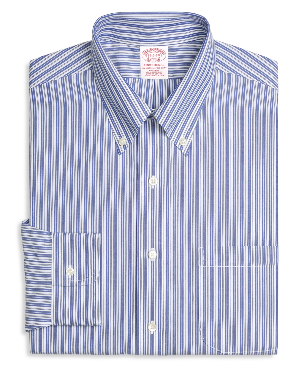 Brooks brothers non iron traditional fit bold split stripe for Brooks brothers dress shirt fit