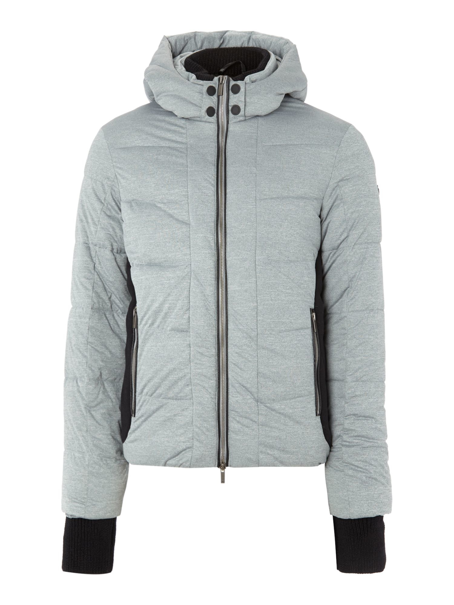 6d7cbd688 Armani jeans Casual Showerproof Full Zip Quilted Jacket in Gray for ...