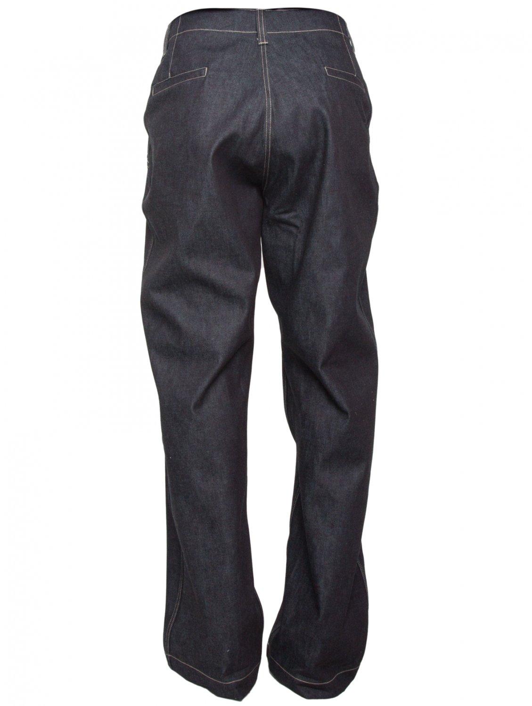 E. Tautz Wide Leg Field Denim Trousers Navy Blue for Men