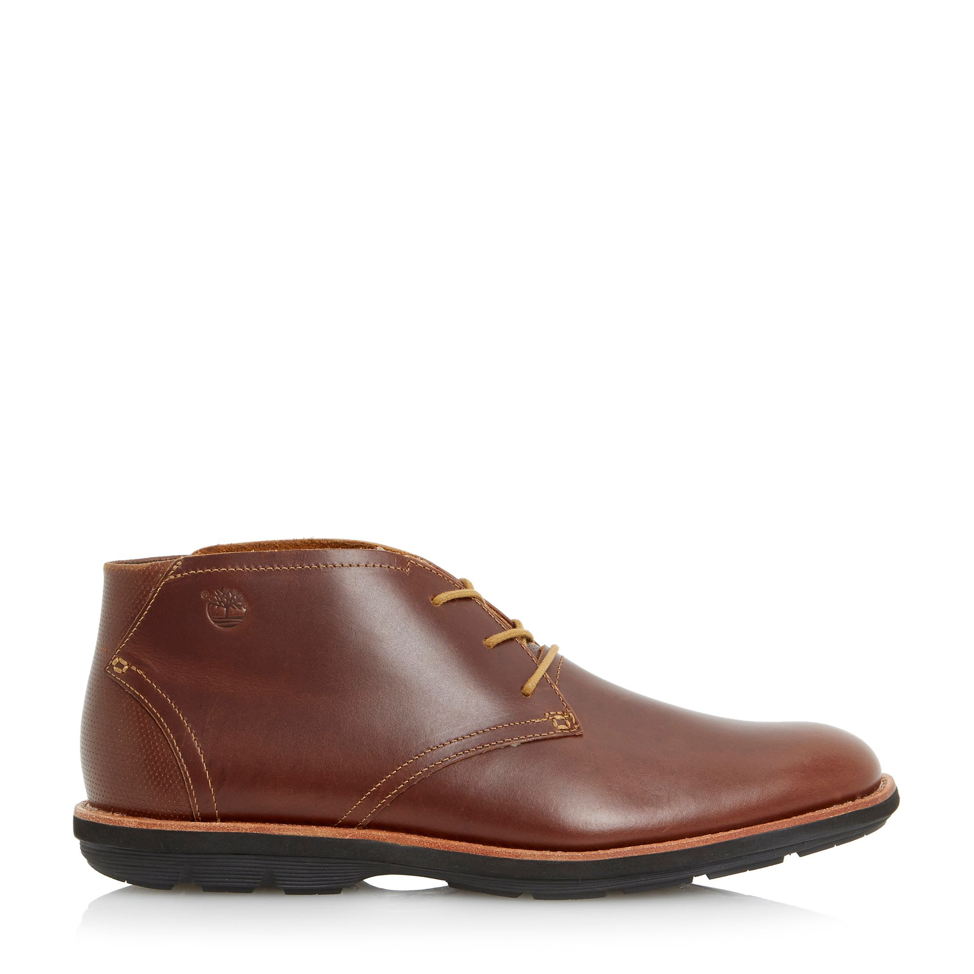 timberland lace up casual chukka boots in brown for lyst