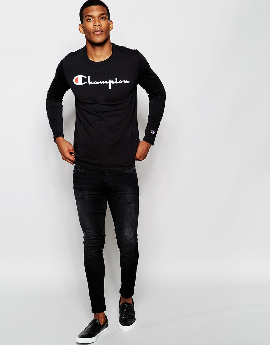 later various colors cheap for sale Long Sleeve T-shirt With Script Logo Exclusive To Asos
