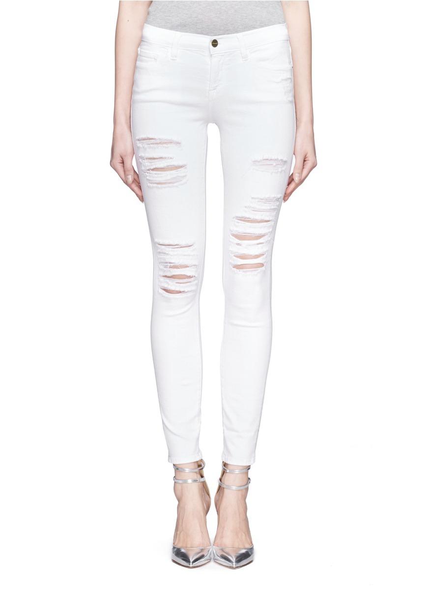 Frame Denim White Jeans - Jeans Am