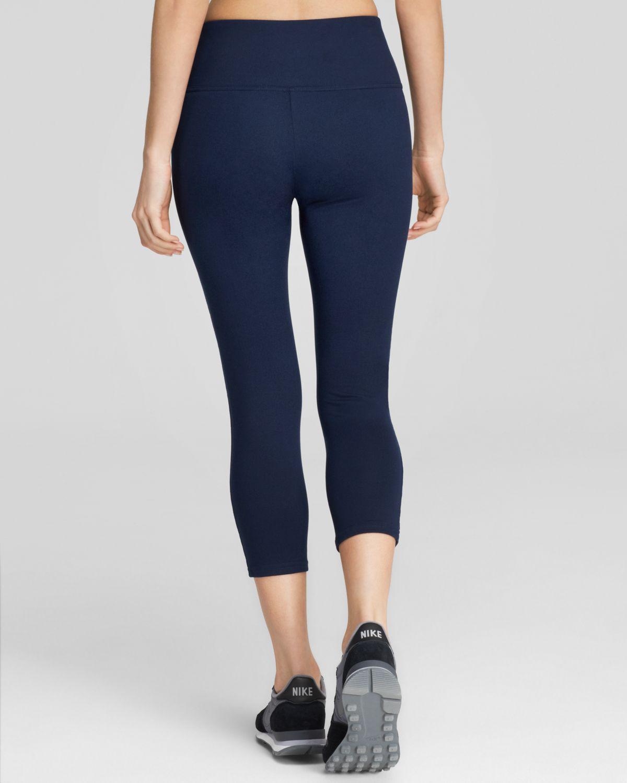 Spanx ® Structured Capri Leggings in Blue | Lyst