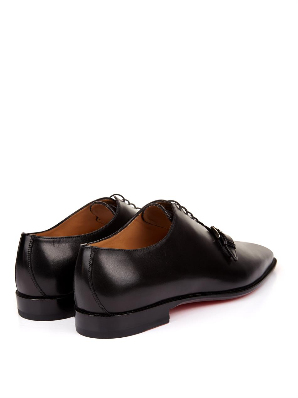 Christian Louboutin Capri Leather Derby Shoes in Black for Men