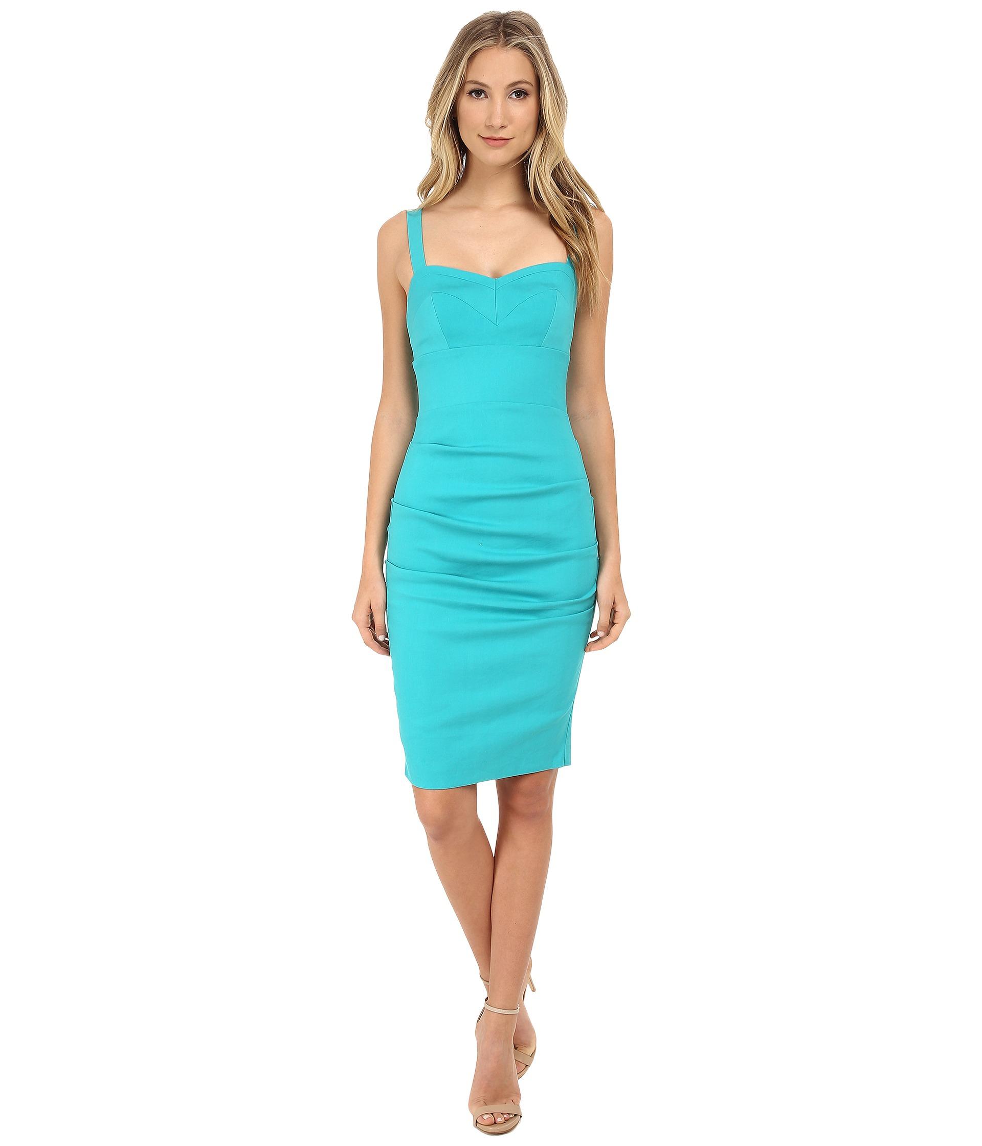 Lyst - Nicole Miller Tali Pool Party Linen Dress in Blue
