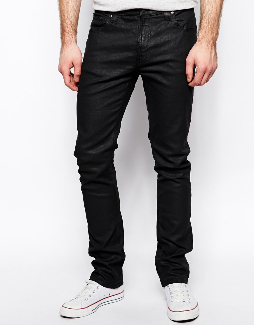 Nudie Jeans Tube Tom Skinny Fit Back In Black Coated For -3805