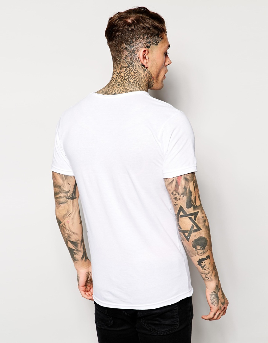 lyst eleven paris x life is a joke mickey t shirt in white for men. Black Bedroom Furniture Sets. Home Design Ideas