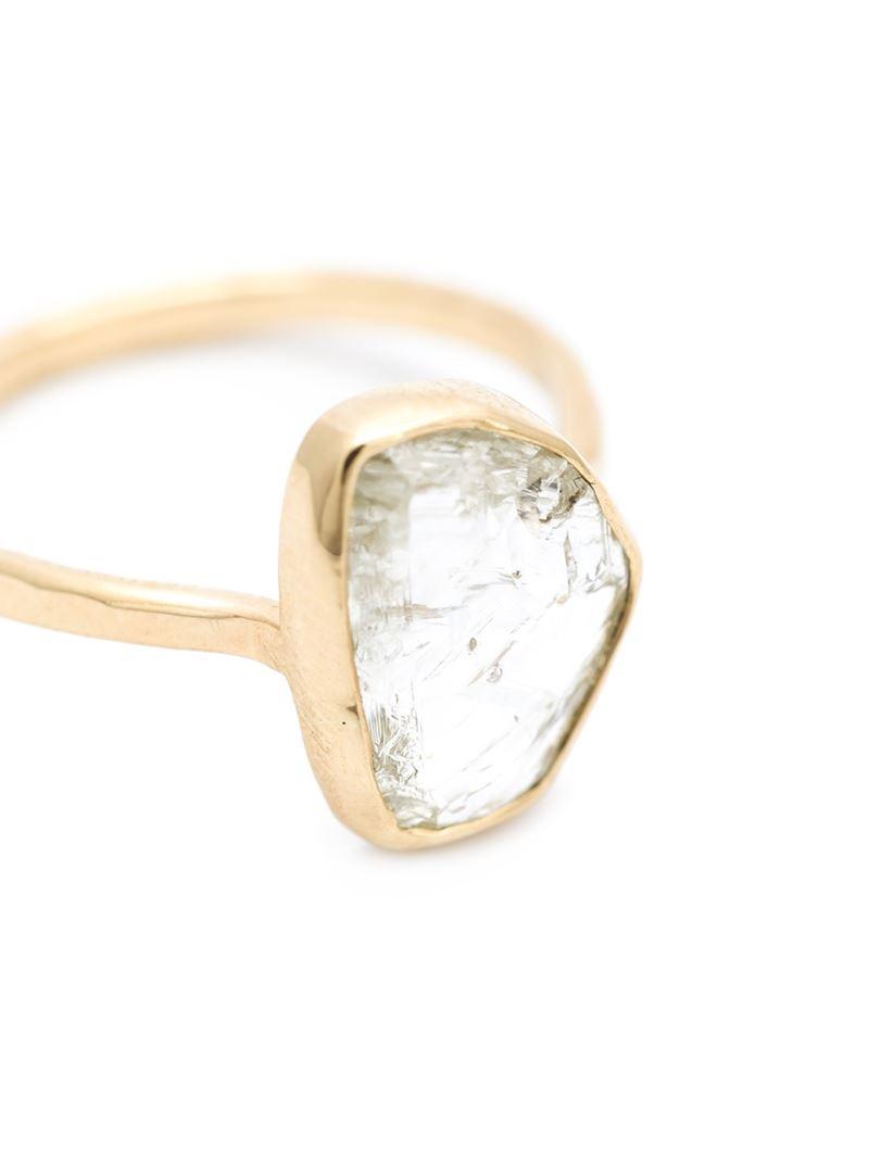 Melissa Joy Manning Rough Cut Diamond Ring in Metallic