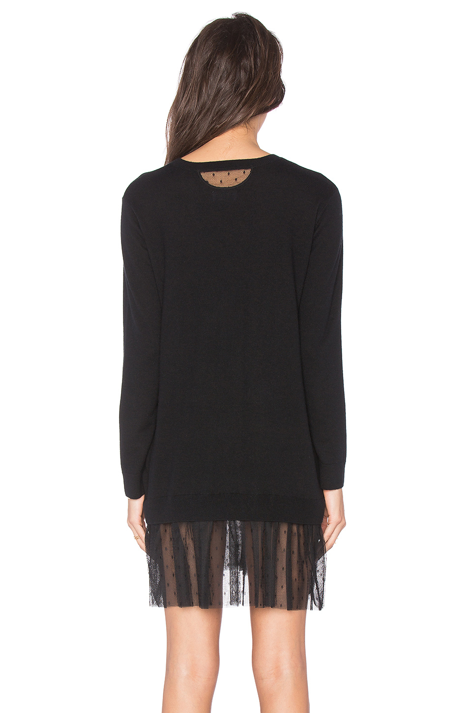 Red valentino Lace Sweater Dress in Black | Lyst