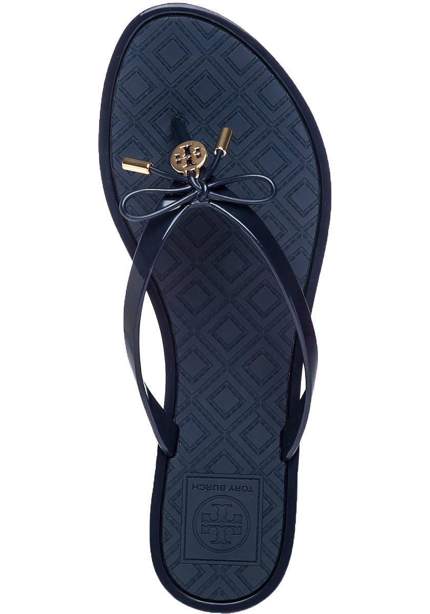 Lyst - Tory Burch Jelly Bow Rubber Flip-Flops In Blue-1848