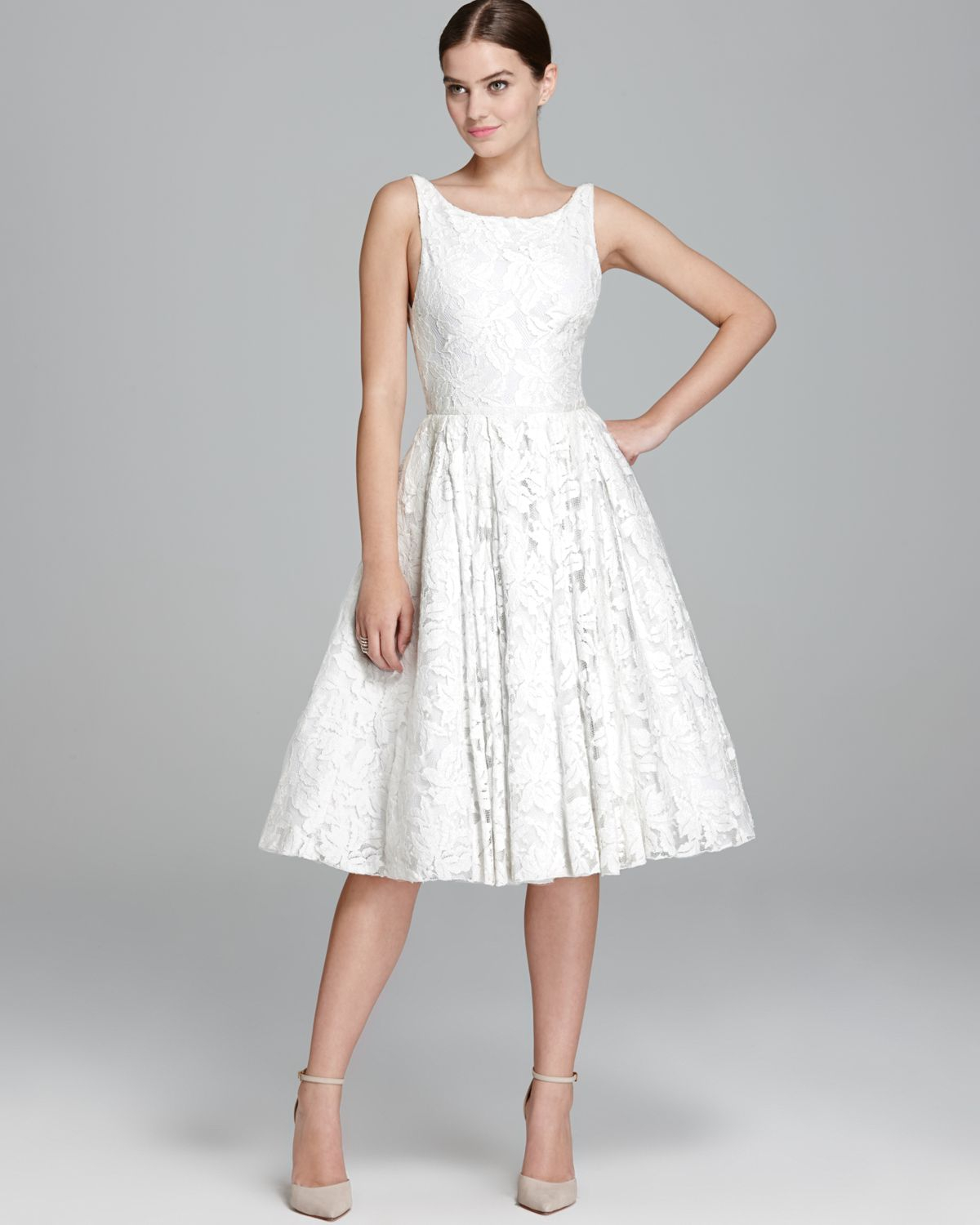 Alice   olivia Alice Olivia Dress Zack Lace in White | Lyst
