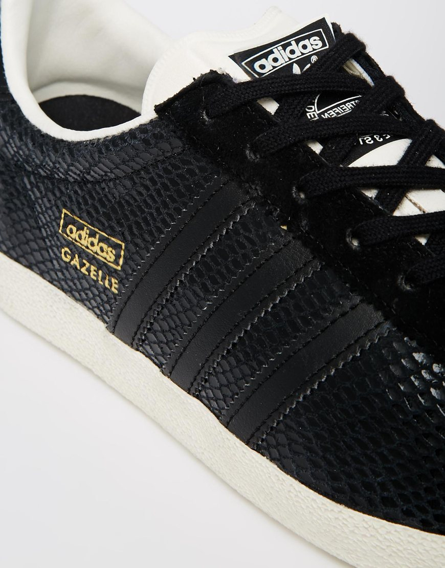 Gazelle Og Black Leather Sneakers