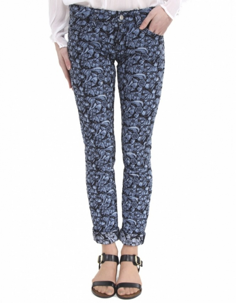 U00c9toile Isabel Marant Floral Embroidered Jeans In Blue | Lyst