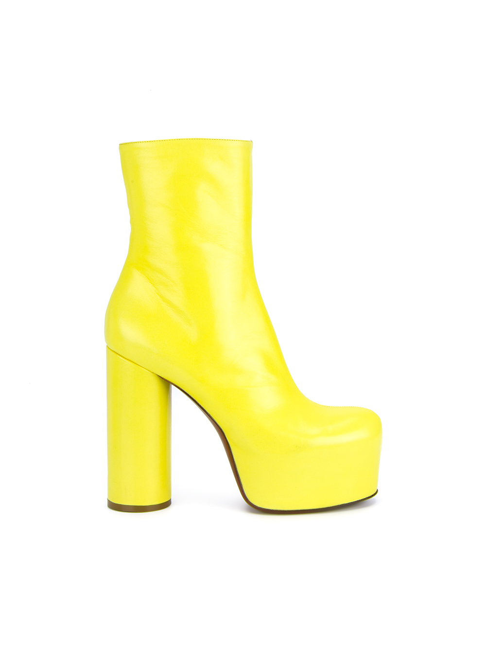 Vetements Leather Platform Ankle Boots in Yellow | Lyst