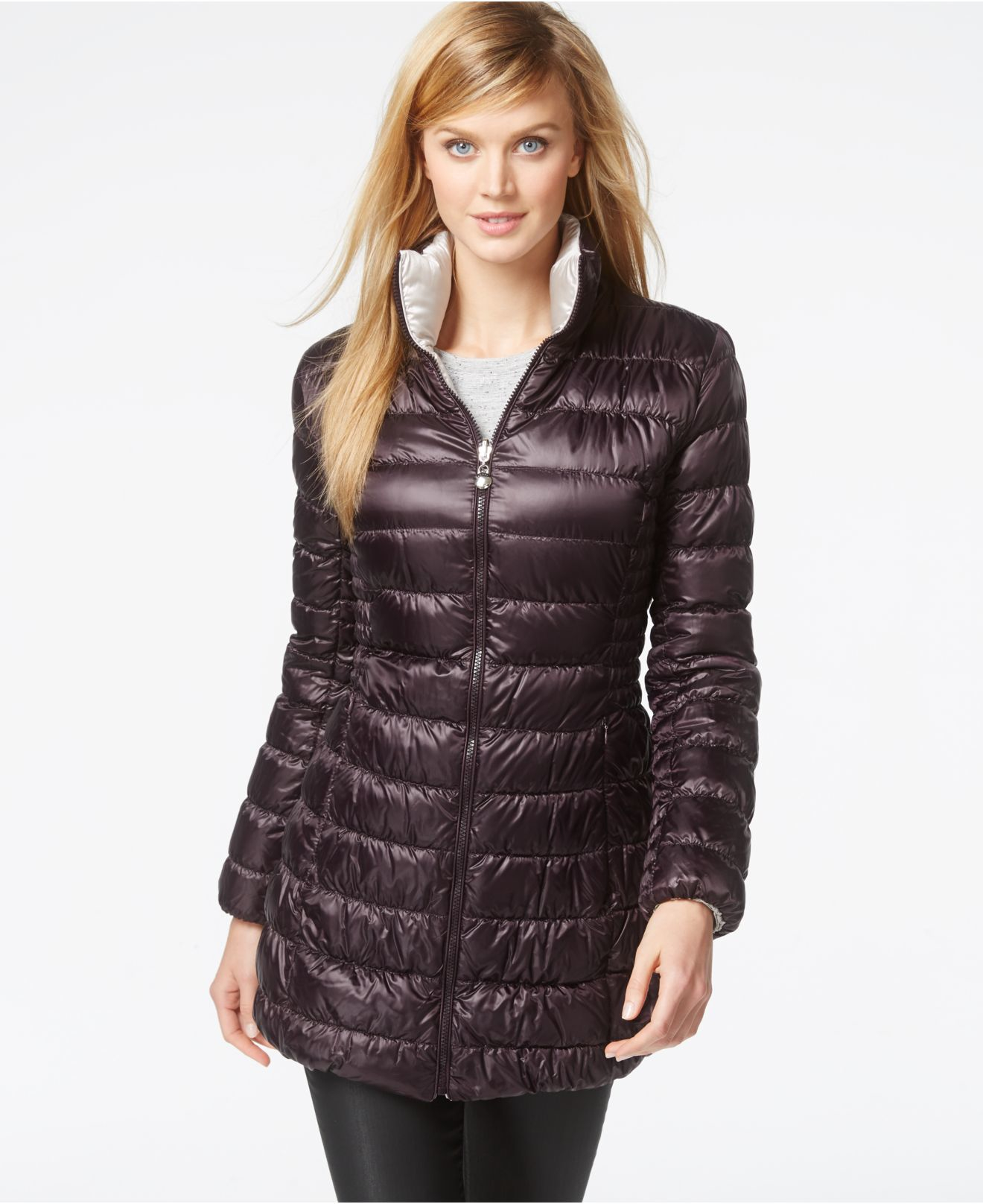 Laundry By Shelli Segal Reversible Down Packable Puffer