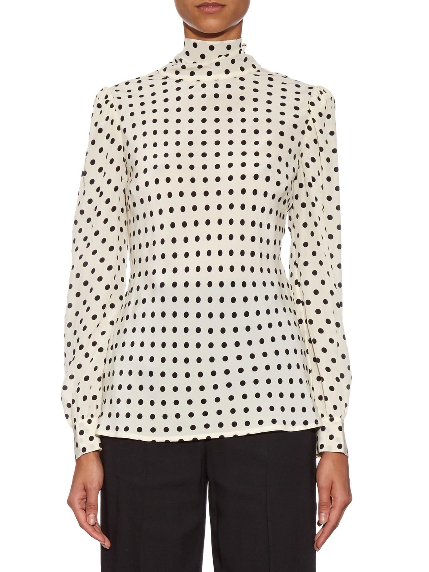 de lunares de seda Blusa de Valentino con estampado ZTTnfO
