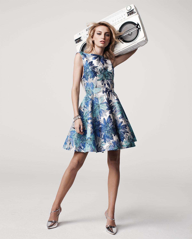 Alice Olivia Foss Brocade Fitandflare Dress Alice Olivia