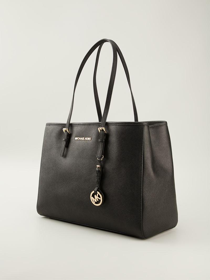 MICHAEL Michael Kors 'jet Set' Tote Bag in Black