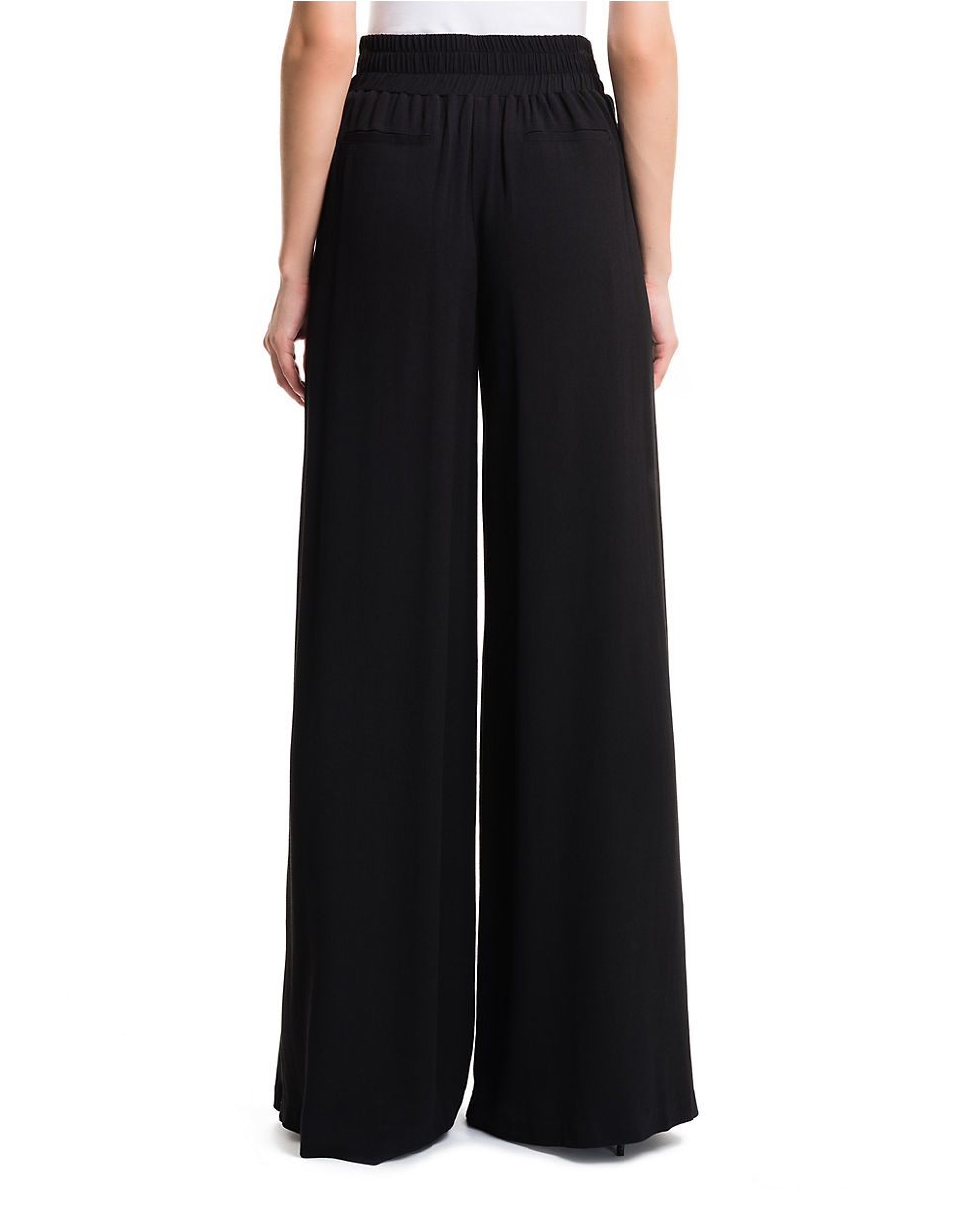 1.state High-waist Wide-leg Trousers in Black | Lyst