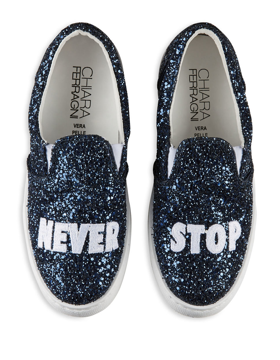Chiara ferragni Never Stop Slip-on Sneaker in Blue