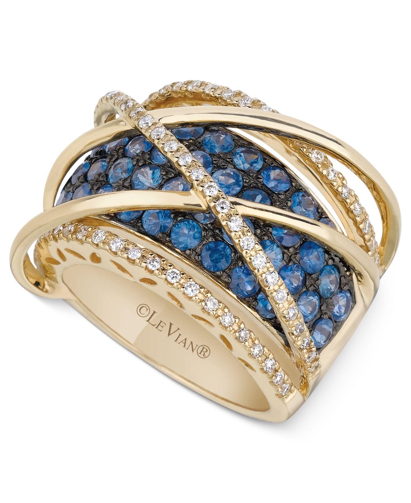 Le vian Sapphire 2 1 2 Ct T W And Diamond 1 3 Ct T W